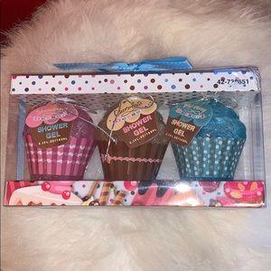 Cupcake Shower Gel Bath Gift Set NWT